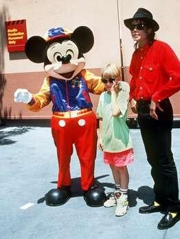 Michael Jackson And Macaulay Culkin With Mickey Mouse