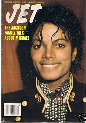 "Michael On The Cover Of 1984 Issue Of ""JET"" Magazine"