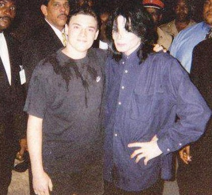 Michael With A fan