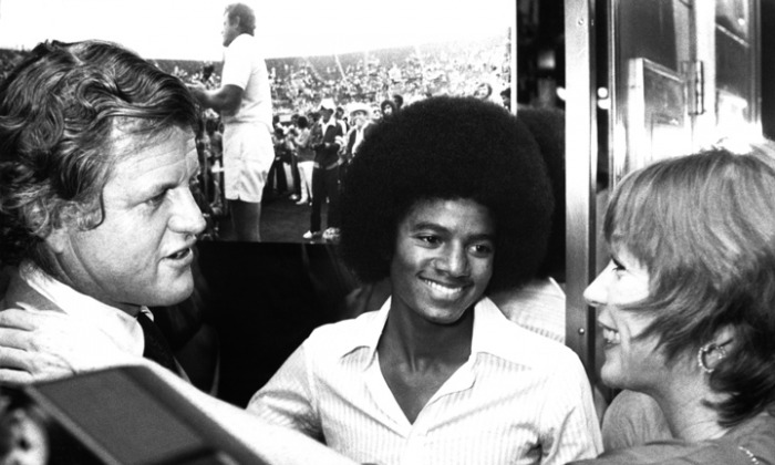 Michael With Senator Ted Kennedy And Shirley MacClaine