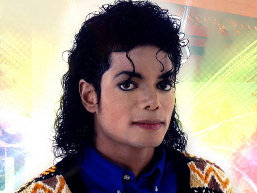 Michael Jackson Hintergrund possibly with a portrait entitled Michael<