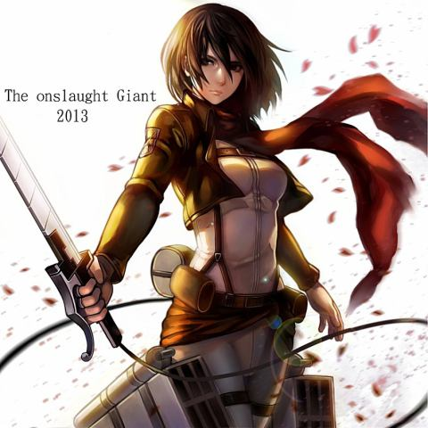 Shingeki no Kyojin (Attack on titan) wallpaper titled Mikasa