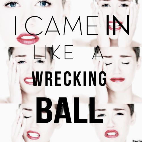마일리 사이러스 바탕화면 entitled Miley Cyrus-Wrecking Ball