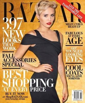 Miley On Harper's Bazaar magazine cover