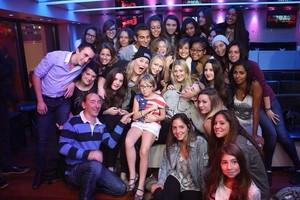 Miley with fan in NRJ Radio in Paris