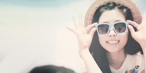 Korea Girls Group A Pink wallpaper with sunglasses titled Naeun banner