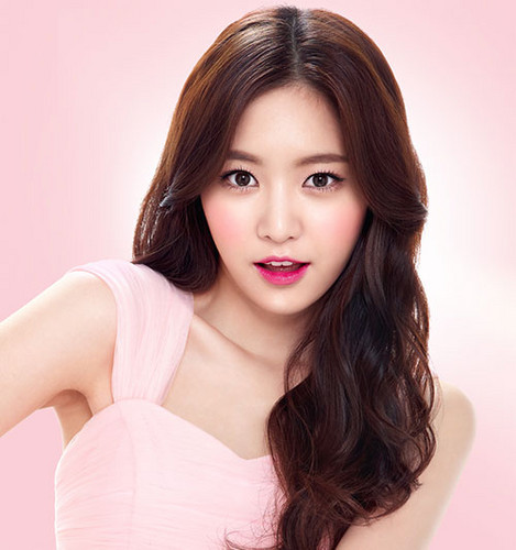 Korea Girls Group A Pink wallpaper containing a portrait entitled Naeun for 'Peripera'