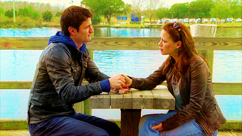 Naley wallpaper probably with a park bench, a sign, and a business suit entitled Naley