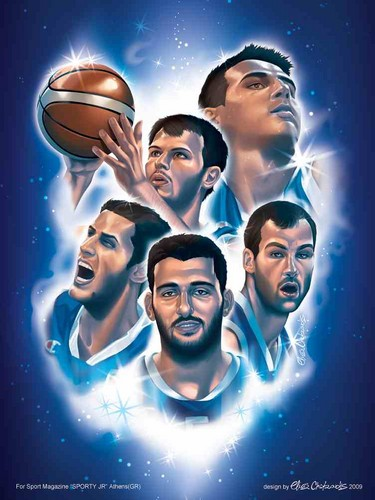 Greece wallpaper possibly containing anime entitled National Hellenic Basketball Team