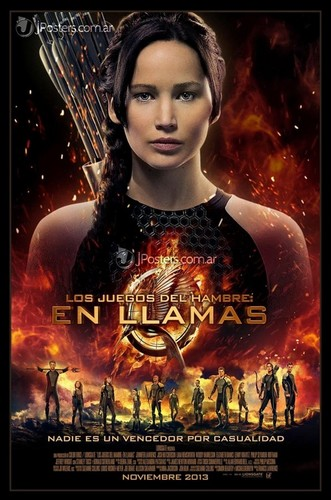 Catching Fire wallpaper possibly with a portrait and anime entitled New international poster for The Hunger Games: Catching Fire