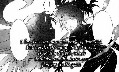 Puella Magi Madoka Magica karatasi la kupamba ukuta possibly containing anime called PMMM Tumblr Confessions