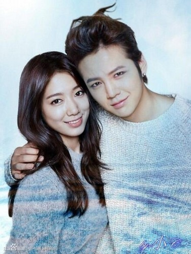 Park Shin Hye wallpaper possibly containing a portrait called Park Shin Hye And Jang Geun Suk 2013