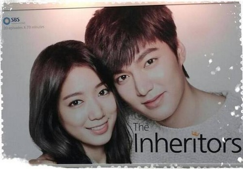 "Lee Min Ho wallpaper with a portrait entitled Park Shin Hye And Lee Min Ho ""The Inheritors!"""