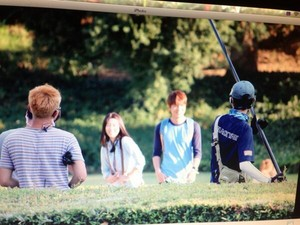 Park Shin Hye And Lee min Ho filming for Heirs at LA!