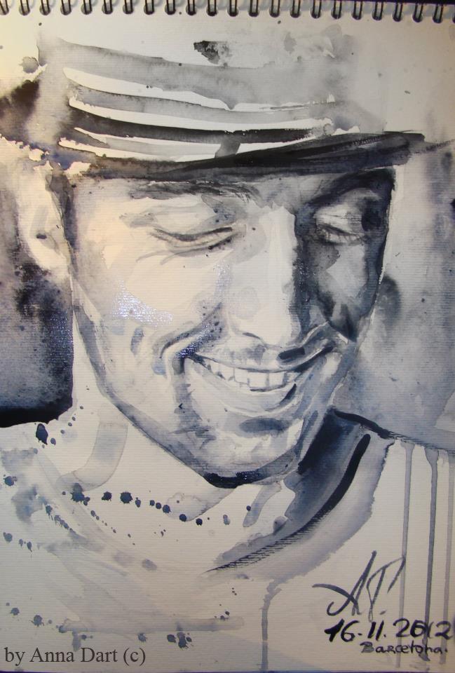 Portrait of Jason Mraz por Anna Dart