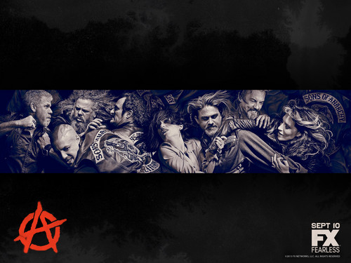 Sons Of Anarchy wallpaper with anime entitled Season 6 Wallpaper