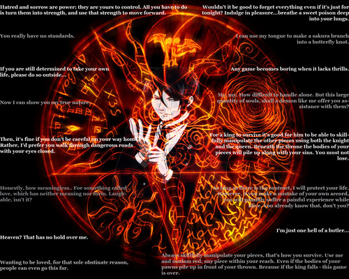 Sebastian Michaelis wallpaper with anime called Sebastian Quotes