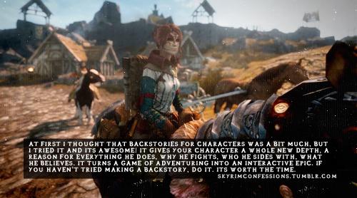 Elder Scrolls V : Skyrim wallpaper with a rifleman entitled Skyrim Confessions