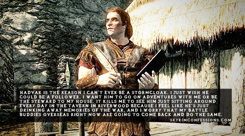 Elder Scrolls V : Skyrim karatasi la kupamba ukuta entitled Skyrim Confessions