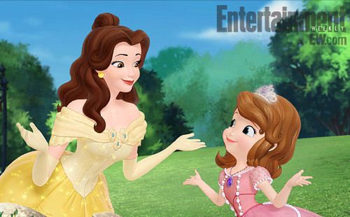 Sofia The First wallpaper titled Sofia and Belle
