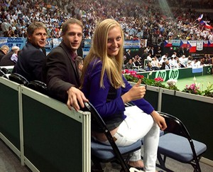 Stepanek Kvitova l'amour 2013
