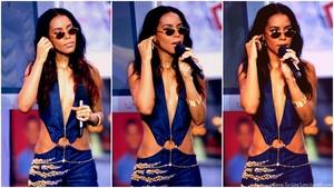 Stunning Aaliyah hosting TRL