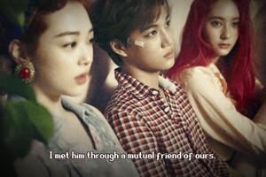 Sulli & Krystal ( F(x) ) & Kai (Exo) - pink Tape