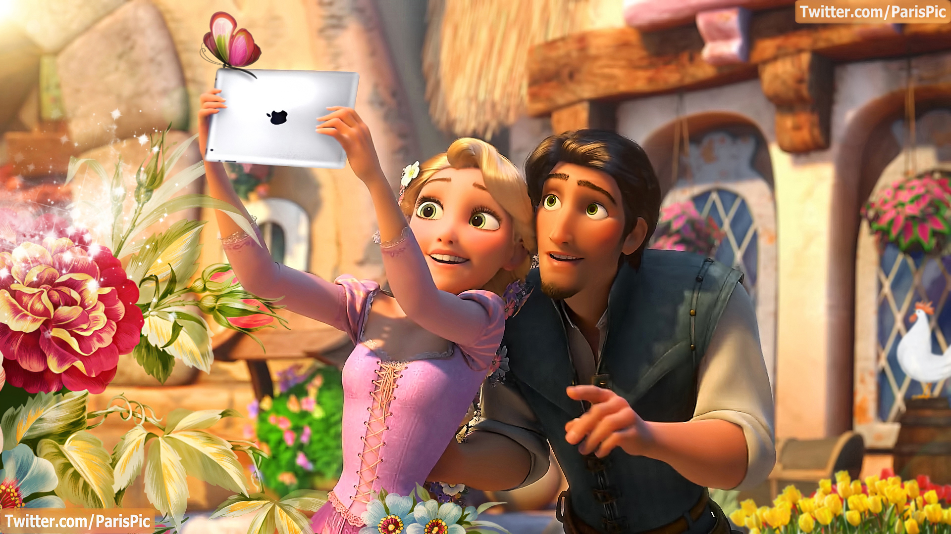 Tangled Images Ipad Butterfly Rapunzel Flynn Rider ParisPic HD Wallpaper And Background Photos