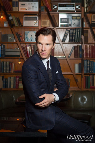 Benedict Cumberbatch wallpaper with a bookshop, a library, and an athenaeum titled The Hollywood Reporter Photoshoot