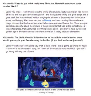 The Little Mermaid Q&A with Jodi Benson (voice of Ariel)