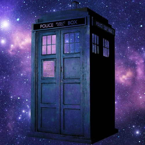 Doctor Who wallpaper with a telephone booth entitled The TARDIS, Weeping Angel, 11th Silhouette