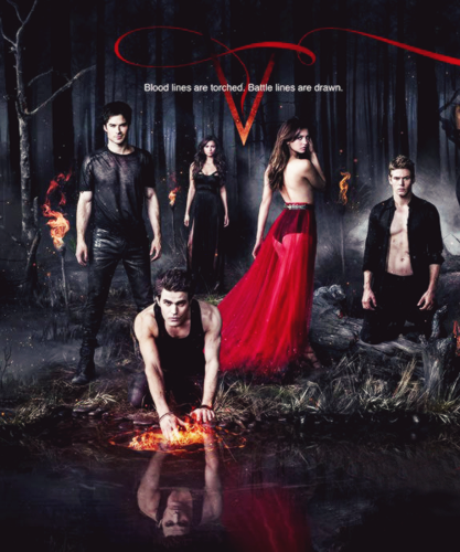 The Vampire Diaries پیپر وال entitled The Vampire Diaries Season 5 Poster