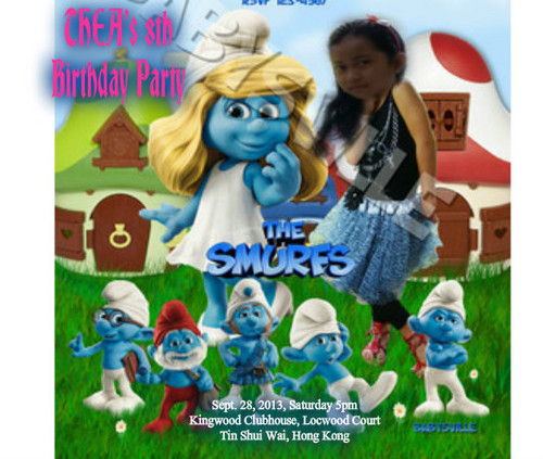The Smurfs wolpeyper containing anime entitled Thea's bday