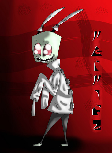 Invader Zim FanCharacters wallpaper possibly containing a sign and anime entitled Twitchy Irken 128379