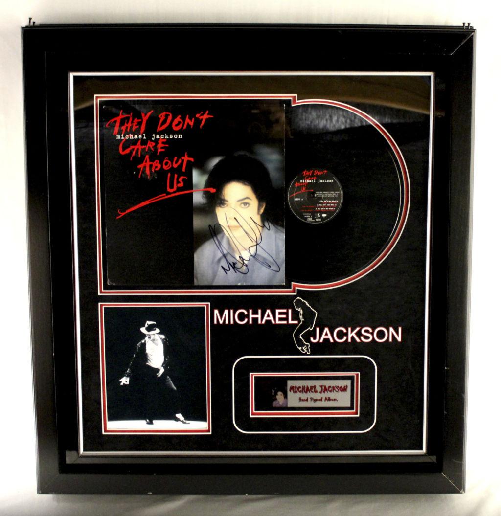 Vintage Michael Jackson Autographed Album Cover