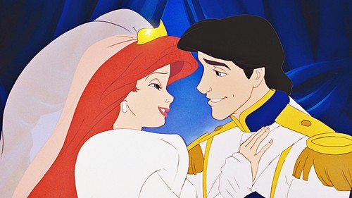 the little mermaid wallpaper containing anime titled Walt disney Screencaps - Princess Ariel & Prince Eric