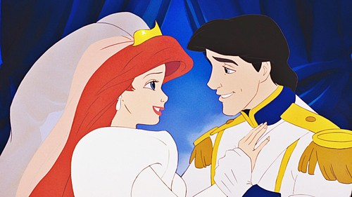小美人鱼 壁纸 possibly containing 日本动漫 titled Walt 迪士尼 Screencaps - Princess Ariel & Prince Eric