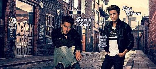 Zac Efron & Vanessa Hudgens wallpaper with a street entitled Zac Efron & Jared Leto (30 Seconds to Mars) - Cover's Facebook