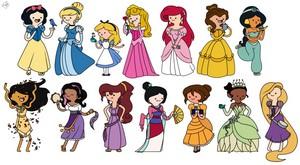 at_ 迪士尼 princess