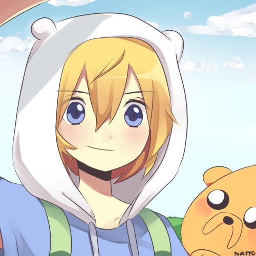 Adventure Time With Finn and Jake wolpeyper possibly with anime called coolest finn and jake fanart ever