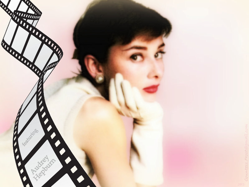 Audrey Hepburn wallpaper containing a portrait called featuring Audrey Hepburn