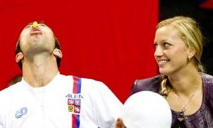 funny Radek Stepanek and Kvitova