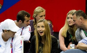 funny Radek Stepanek and Kvitova