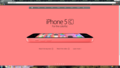 iPhone 5c rosa mela, apple Homepage