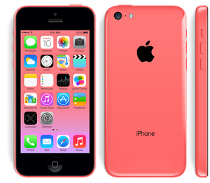 iPhone 5c merah jambu