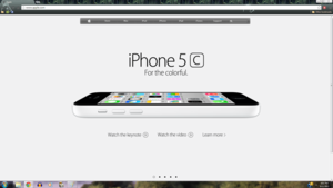 iPhone 5c White manzana, apple Homepage
