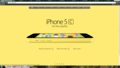 iPhone 5c Yellow apel, apple Homepage