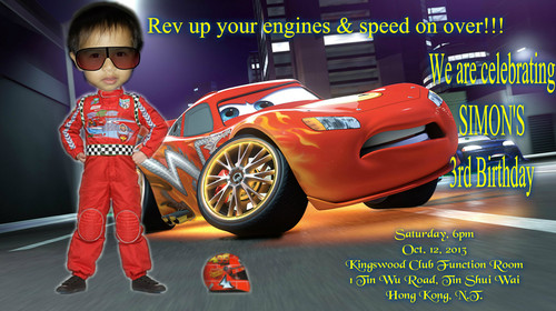 Disney Pixar Cars achtergrond entitled invite