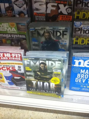 loki and thor on the cover of empire
