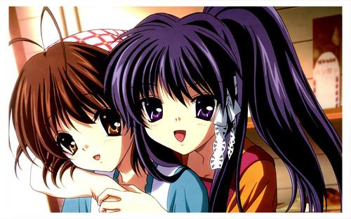 Clannad and Clannad After Story karatasi la kupamba ukuta possibly with anime called old Marafiki